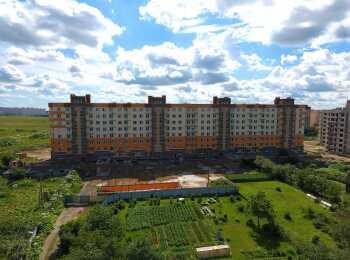 Панорамный вид на корпус ЖК Рябиновый сад